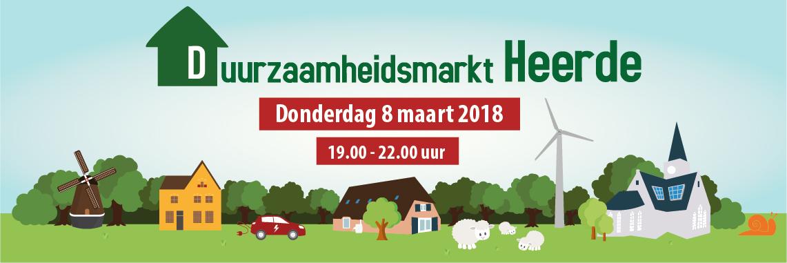 Duurzaamheidsmarkt Heerde op 8 maart.